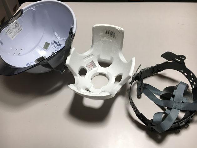 工事用ヘルメットを分解してみました