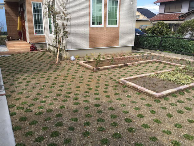 コの字型に作った家庭菜園!