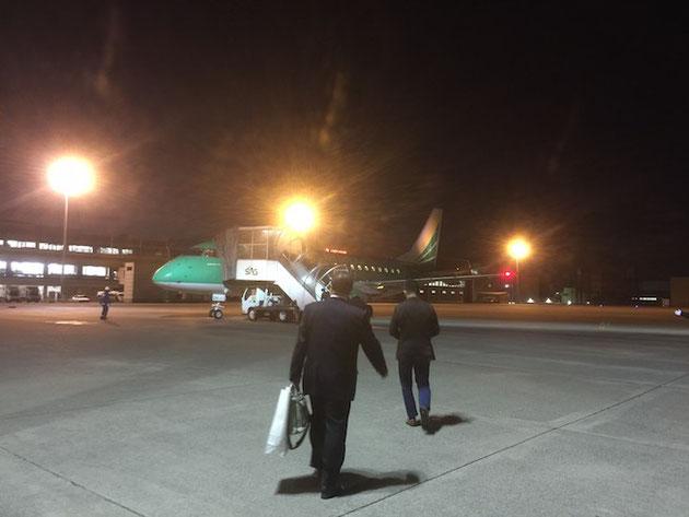 福岡入りしたガーデンドクター柴ちゃん。今回は名古屋空港から福岡へ!