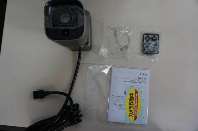 ホームユニット屋外カメラのパッケージ。