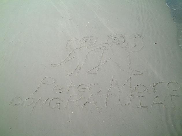 桟橋の上から見たメッセージ