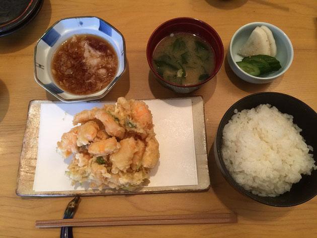 柴ちゃんの頂いた「かき揚げ定食」!このかき揚げ!たまらん!!!