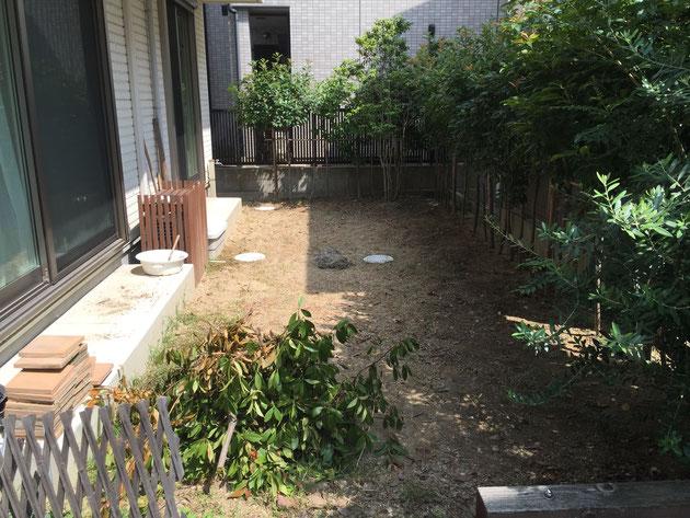 名古屋市北区T様邸のお庭Before