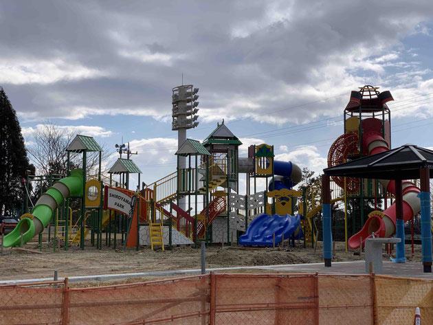 遊具工事中の城山公園!オープンがすごい楽しみ!!!