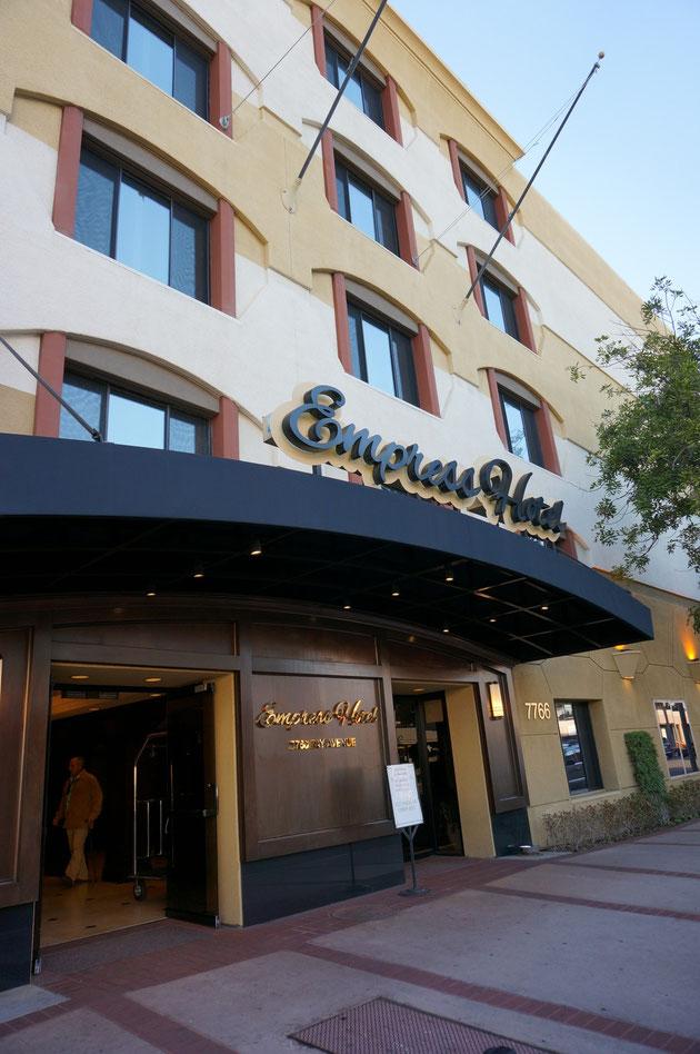 ラ ホーヤにあるエンプレスホテル。高級感漂う素敵なホテルだ!