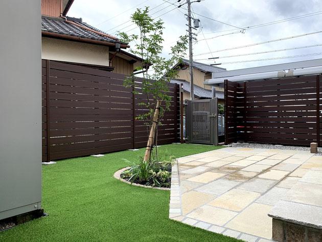 尾張旭市 人工芝のお庭
