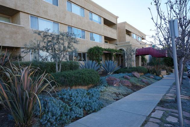 こちらもアパートメント。植栽が特徴的だ。