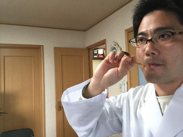 ゆでたてのツクシを食すガーデンドクター柴ちゃん、摘みたての春を味わう!!!