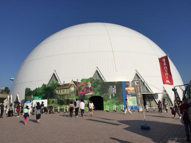 緑化フェアの中、こちらではジブリ大博覧会が行われていた!行きたかった!