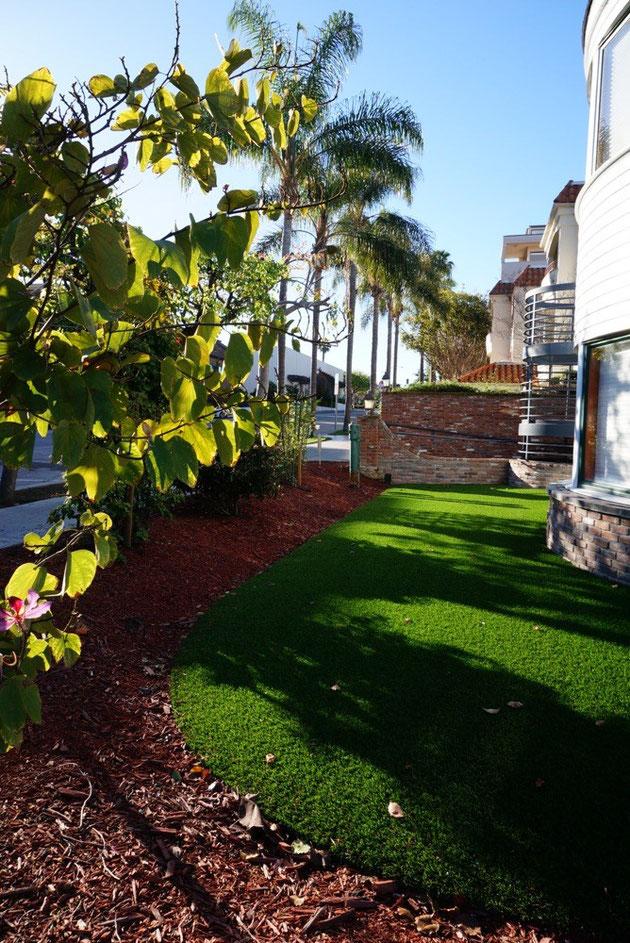 ラ・ホヤの住宅で見た高品質人工芝
