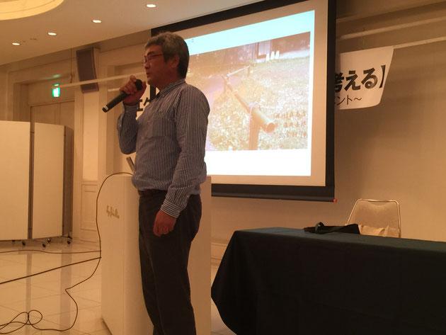 こちらは竹藤商店さんの藤井さん。小林徹先生と一緒に名工塾をされたお話でした。