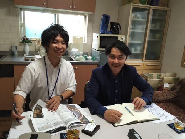 タカショー(株)さんの開発の花田さんと営業の横田さんがガーデンドクター柴ちゃんを訪ねて来てくれました!