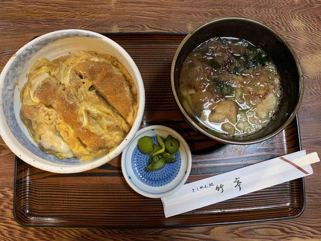 「竹亭」のカツ丼ランチ。今日も最高のパフォーマンスをありがとうございました!