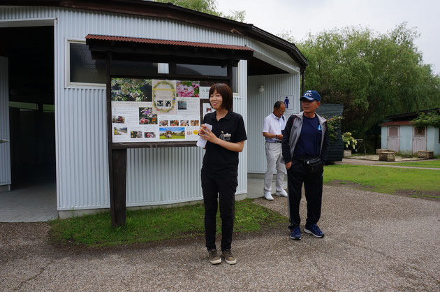 案内してくださったローゼンベリー多和田のスタッフさん。