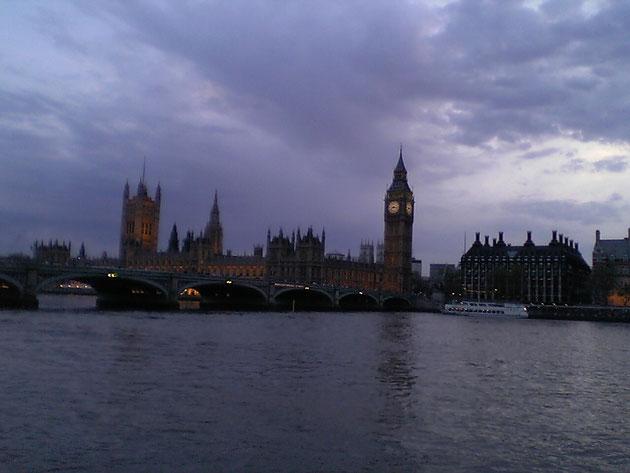 非常に美しいロンドンの夕焼け。