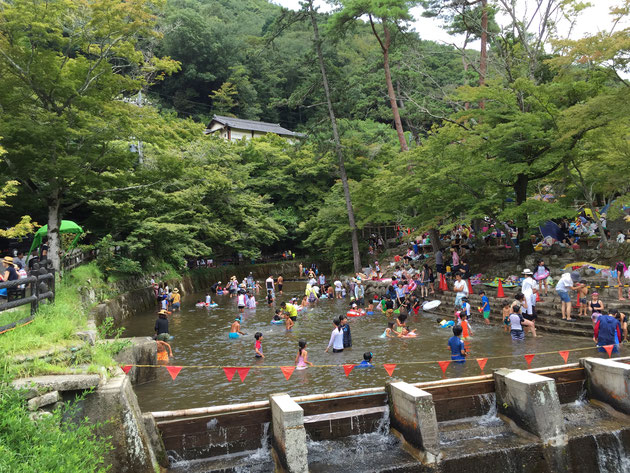 ここが岩屋堂のメインの水遊び場!