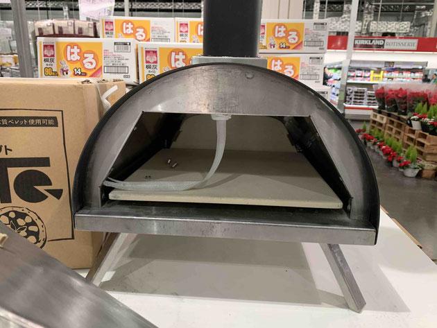 このうえでピザを焼くんですね。