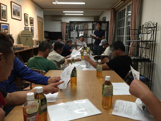 安全衛生会議に集まってくれた柴垣グリーンテックの現場を作ってくれる職人さん達。