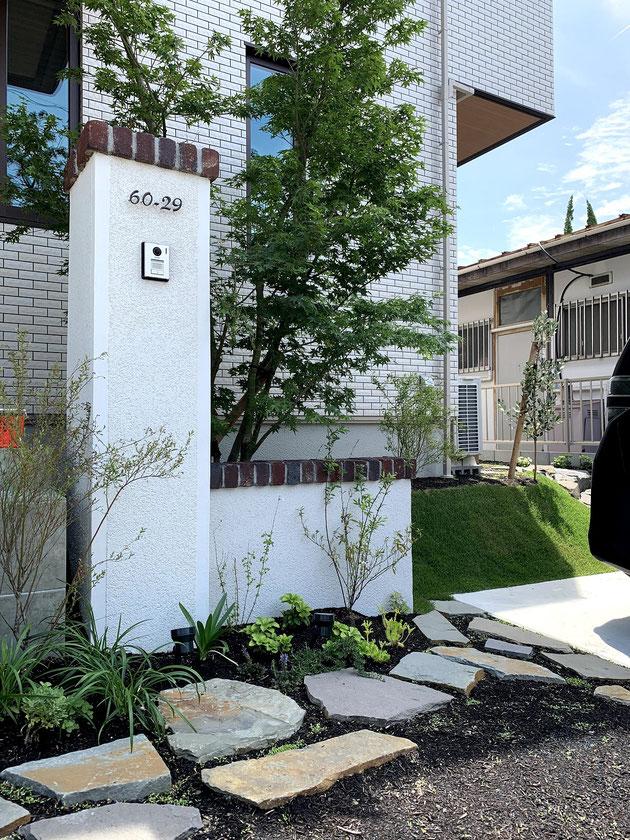 瀬戸市 パナホームさんの家に作った北欧風外構
