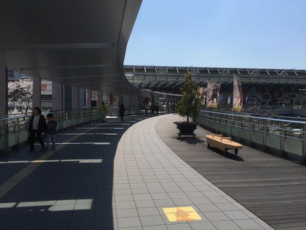 凄く奇麗な岐阜駅のロータリー。
