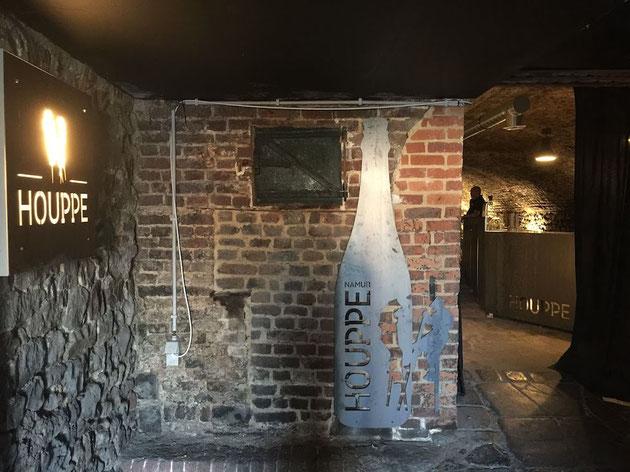 雰囲気抜群のレンガ造りの内部。ここがベルギービールの醸造所!