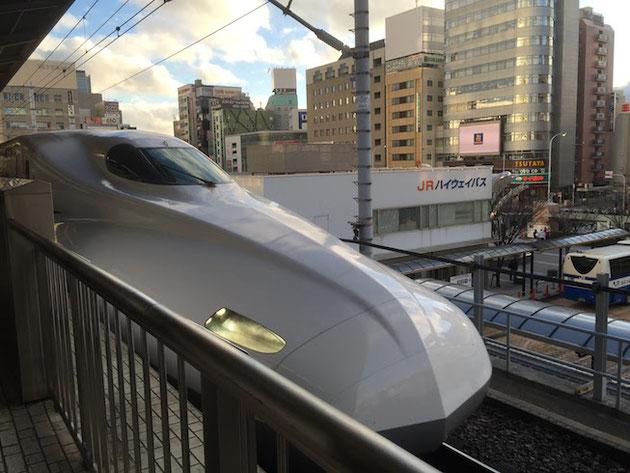 一路のぞみで大阪へ!