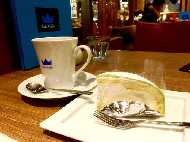 キングのコーヒーとケーキ。ちょっとした良いランチは食べられる値段!