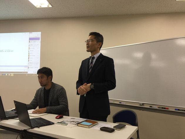 こちらが日本No.1の外構・造園CADメーカーさんであるユニマットリックの小松社長。E&Gアカデミーの代表でもあらせられます。