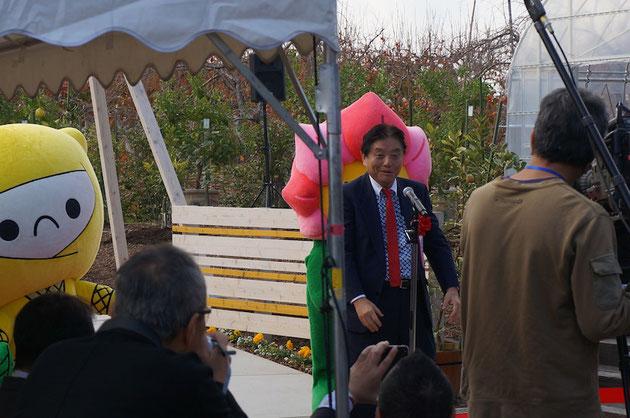 河村たかし名古屋市長。今回もかなりみゃーみゃー名古屋弁でお話ししてくださいました。
