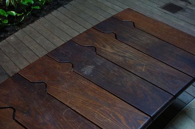 この座面の形は特徴的