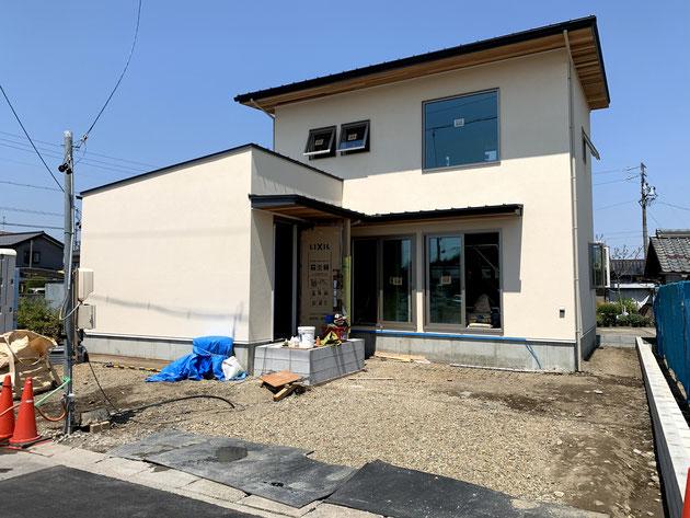 江南市 自然風 モダン住宅 外構施工前