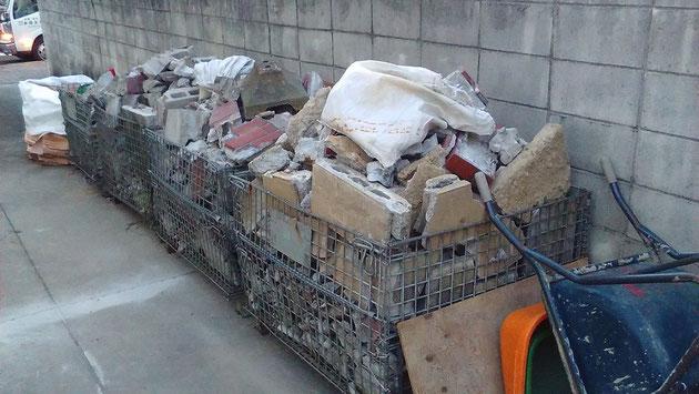 解体したコンクリートのガラ