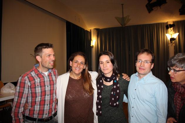 v.l.n.r: Linus Schärer, Jacqueline Badran, Tanja Bauer, Martin Schütz, Elisabeth Striffeler