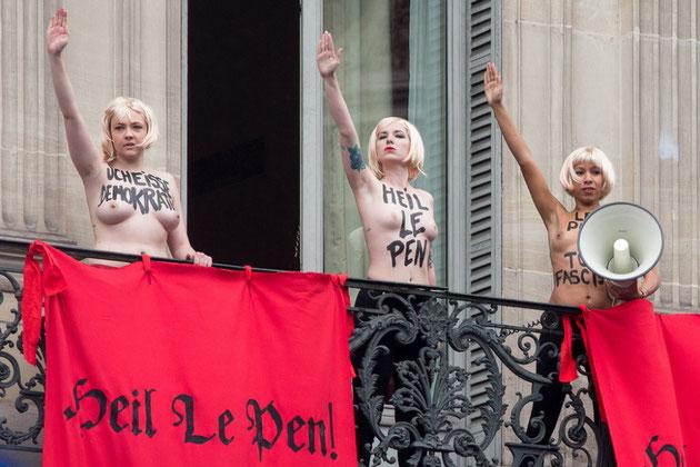 'Femme' - potest mod Marine Le Pen i Paris