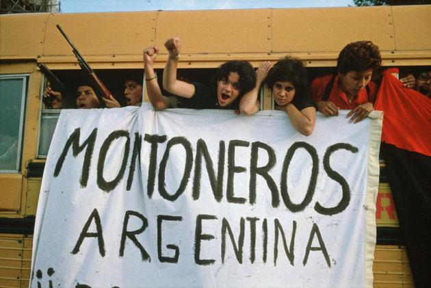 """Flere hundrede internationalister kæmpede sammen med det FSLN-ledede folkeoprør. Deriblandt tilhængere af den marxistiske guerillabevægelse i Argentina """"Montoneros"""" (billede), samt nogle hundrede autonome fra Italien og Tyskland."""