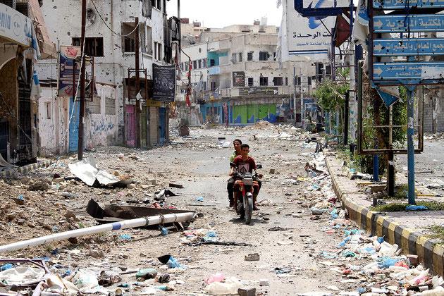 Byen Taïz i det sydvestlig Yemen