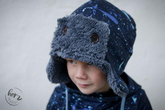 Wintermütze Cosy mit Hoodie dein Nanuk Snowboardstyle