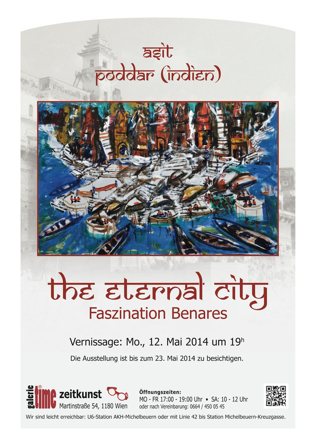 Asit Poddar Indien Wachtl Galerie Time The eternal city faszination Benares