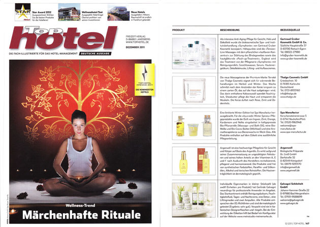 TOPHOTEL Dezember 2011 I AYURVEDIC WINTER SPICES COLLECTION