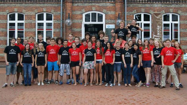 Die Baumhaus-Freiwilligen 2013