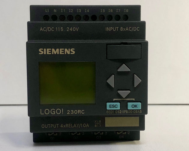 SIEMENS LOGO! logic module 230RC with display, Type: 6ED1052-1FB00-0BA5