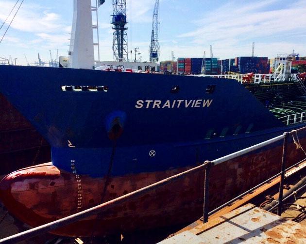 oil tanker, straitview