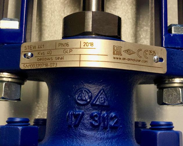 ARI Armaturen control valve STEVI, Type: 441