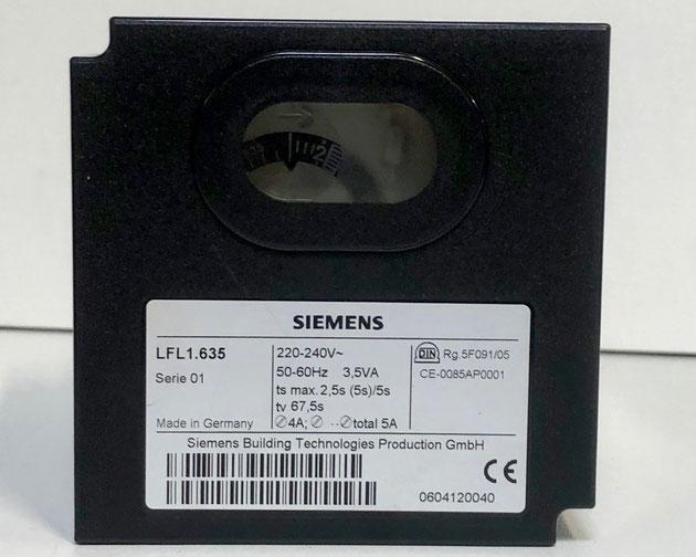 SIEMENS Gas Burner Control, Type: LFL1.635
