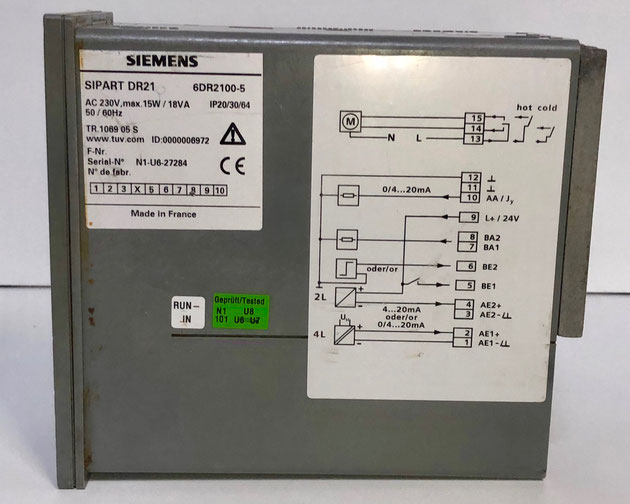 SIEMENS SIPART electric controller, Type: DR21
