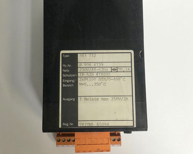 Wiesloch electric controller, Type: 887732