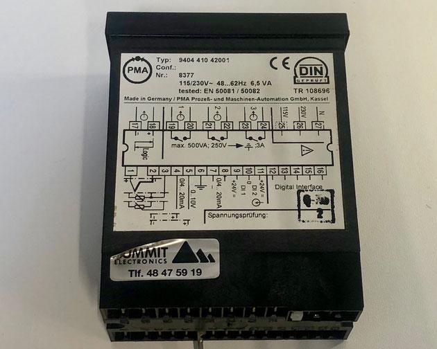 PMA electric temperature controller, Type: KS 90