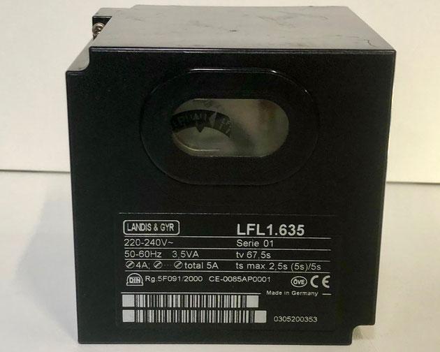 Landis & Gyr gas burner control, Type: LFL1.635