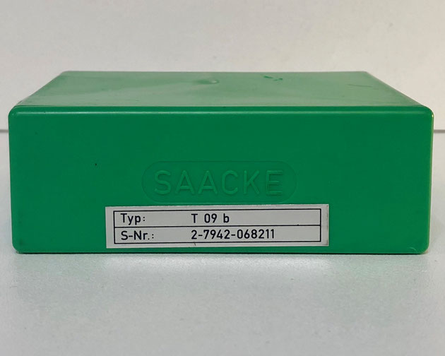 SAACKE flame failure indicator, Type: T09B.