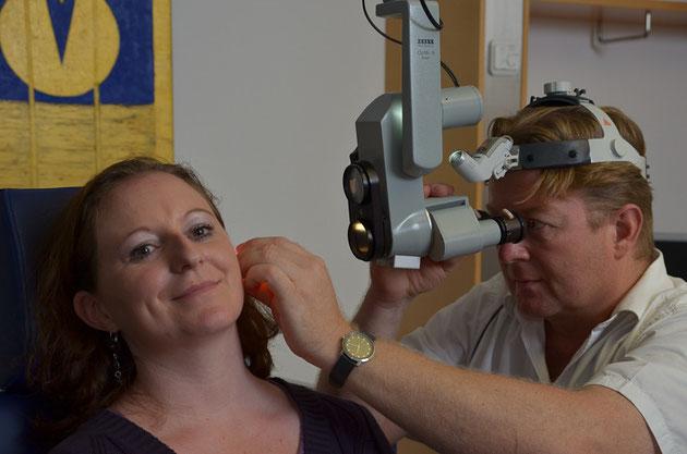 Anatomie des Ohres: Praxis